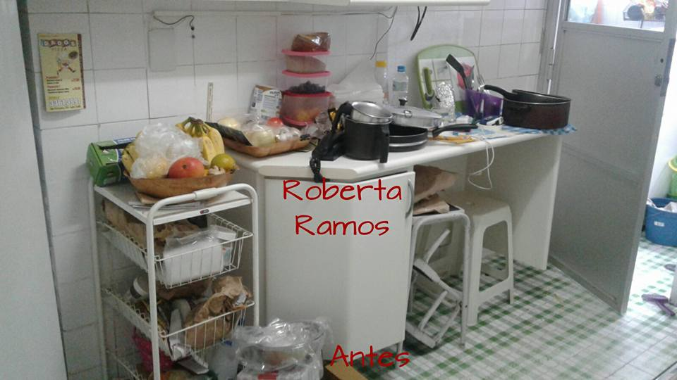 Organização de balcão de cozinha