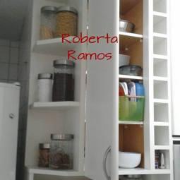 Armário de cozinha depois da organização