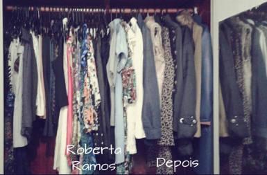 Organização de guarda roupa depois