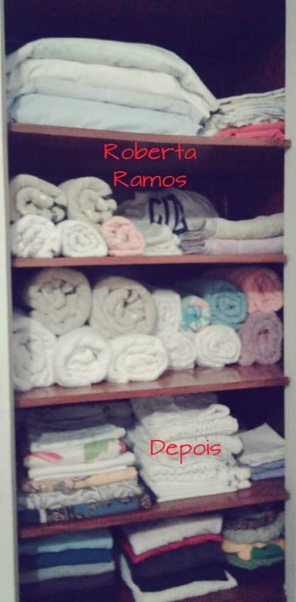 Organização de armário de cama, mesa e banho - depois